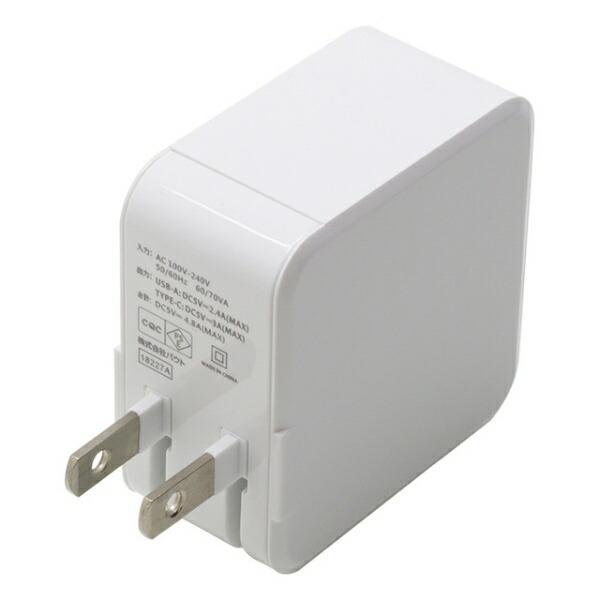 バウトBAUT急速充電4.8AUSB1ポート、Type-C1ポート自動判別付