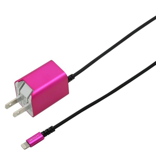 バウトBAUTAC充電器Lightning1.5mPREMIUMマゼンタBACLAN24MA