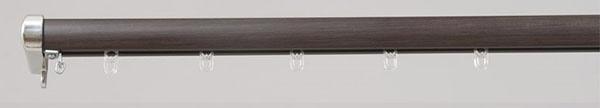 フルネスFullness装飾レールロアール2m用(120-200cm)シングル木目ブラウン