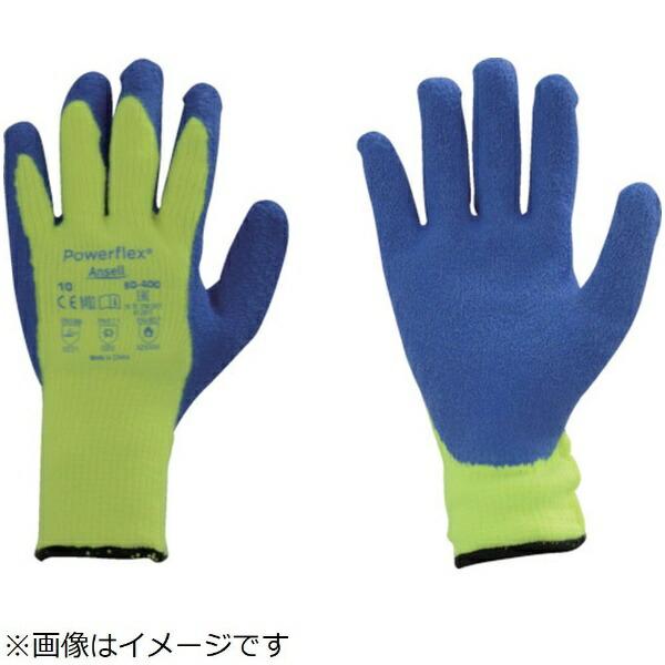 アンセルAnsellアンセル天然ゴム背抜手袋パワーフレックス80−400Sサイズ