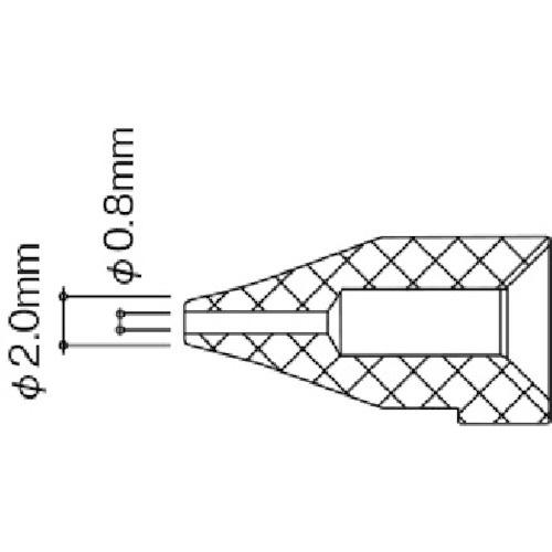 白光HAKKO白光ノズル/0.8MMS型
