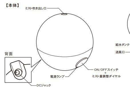 トップランドTOPLANDSH-RK80加湿器ORBピンク[超音波式/500ml][SHRK80]【加湿器】