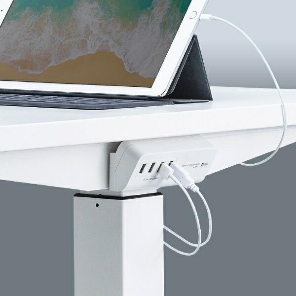 サンワサプライSANWASUPPLYマグネット付スマホ用USB充電コンセントアダプタ(USB4ポート)ACA-IP53Wホワイト