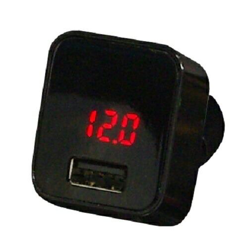 プロテックPROTEKシガーソケット用USB2.4Aチャージャー&カーバッテリーテスターPROTEKブラックPCCHT-24BK[1ポート]