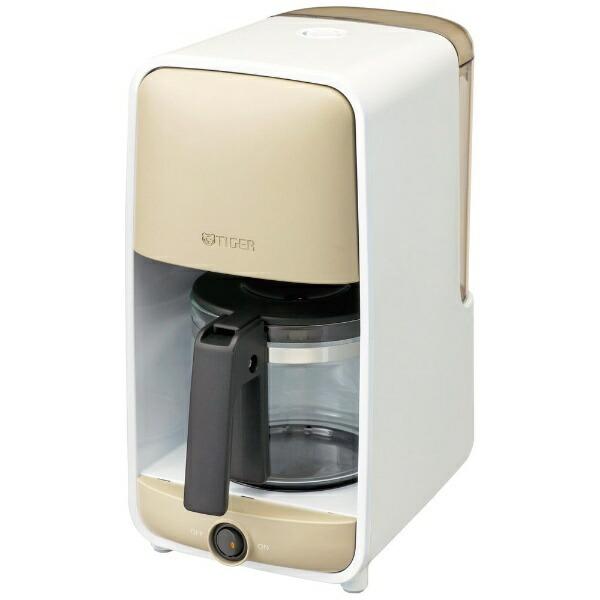 タイガーTIGERコーヒーメーカーグレージュホワイトADC-B060<WG>[ADCB060WG]