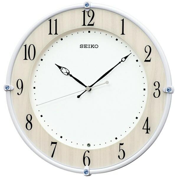 セイコーSEIKO掛け時計【スタンダード】白パールKX242B[電波自動受信機能有]