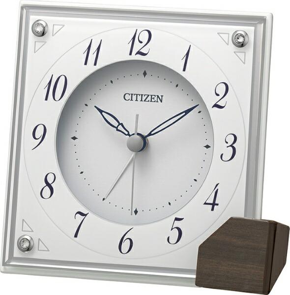 シチズンCITIZEN置き時計CITIZEN白8RG625-003