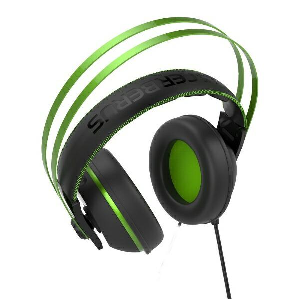 ASUSエイスースCerberusV2有線ゲーミングヘッドセットCerberusグリーン[φ3.5mmミニプラグ/両耳/ヘッドバンドタイプ][CERBERUSV2GREEN]