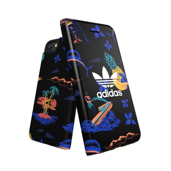 アディダスadidasBookletcase-iPhone6/6S/7/8-Black30934手帳型ケース[30934]