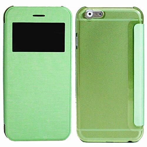 アイキューラボiQLaboiPhone6sPlus/6Plus用小窓付き横開きケースIQ-IP6PKO-GRグリーン