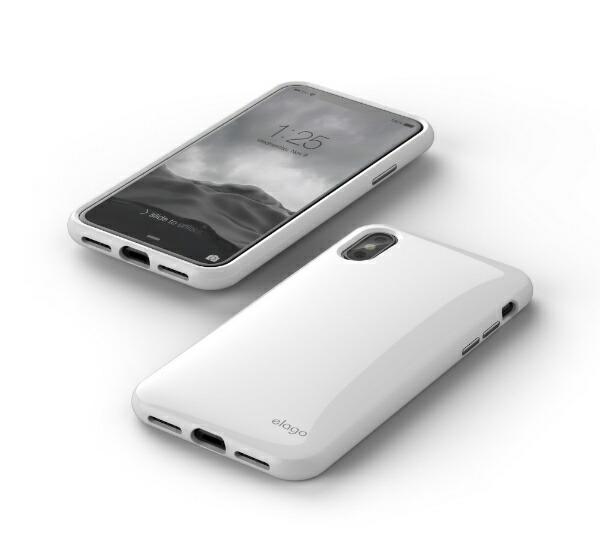サンクチュアリSanctuaryiPhoneX用elagoS8CUSHION(エラゴクッション)EL_I8NCSPCCN_WHホワイト