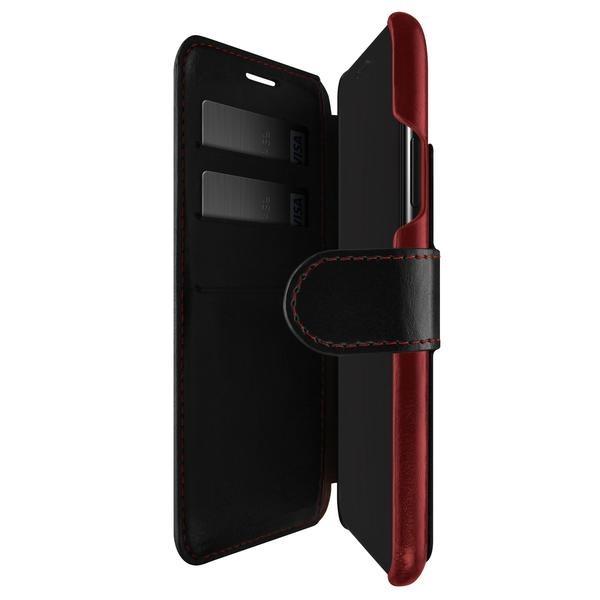 サンクチュアリSanctuaryiPhoneX用VRSDESIGNLayeredDandy(レイヤードダンディ)VR_I8NCSLLDL_BRブラック×ワインレッド