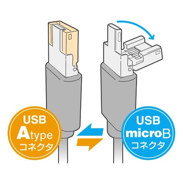 ミヨシMIYOSHI[microUSB]シェア機能付きmicroUSBケーブル0.5mUSB-MS25/BKブラック[0.5m]