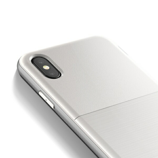 サンクチュアリSanctuaryiPhoneX用VRSDESIGNHighProShield-S(ハイプロシールド-S)MILVR_I8NCSDLH2_CWホワイト&シルバー