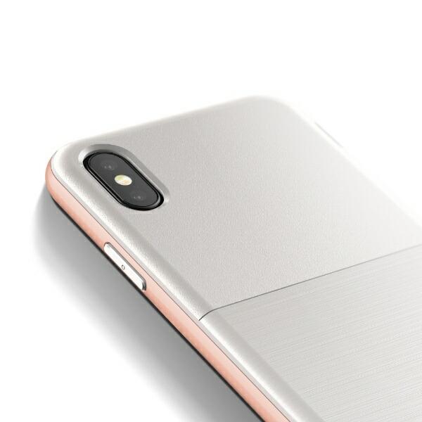 サンクチュアリSanctuaryiPhoneX用VRSDESIGNHighProShield-S(ハイプロシールド-S)MILVR_I8NCSDLH2_RGホワイト&ローズゴールド