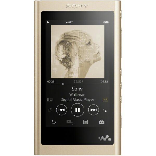 ソニーSONYウォークマンWALKMAN2018年モデルNW-A55HNNMAシリーズペールゴールド[16GB/ハイレゾ対応][ウォークマン本体NWA55HNNM]