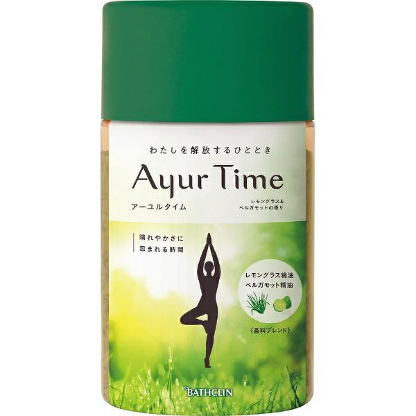 バスクリンBATHCLINAyurTime(アーユルタイム)レモングラス&ベルガモットの香り(720g)[入浴剤]