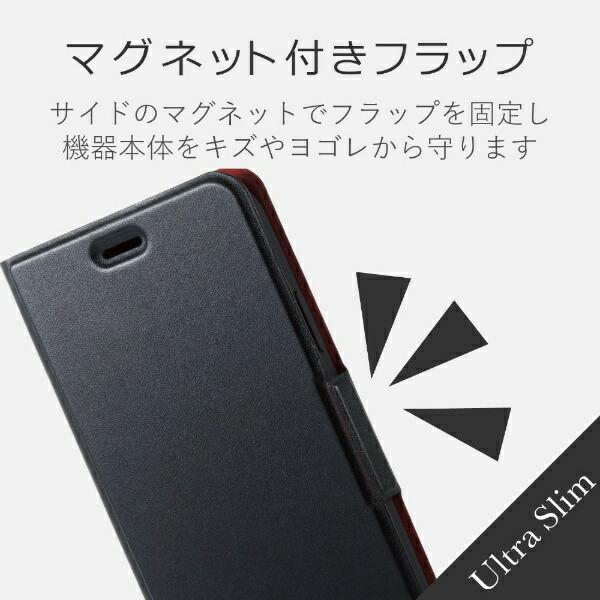 エレコムELECOMiPhoneXR6.1インチ用ソフトレザーカバー薄型磁石付PM-A18CPLFUBK