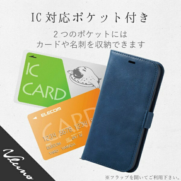 エレコムELECOMiPhoneXR6.1インチ用ソフトレザーカバー磁石付PM-A18CPLFYNV