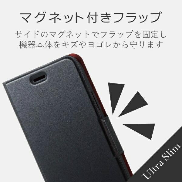 エレコムELECOMiPhoneXSMax6.5インチ用ソフトレザーカバー薄型磁石付PM-A18DPLFUBK
