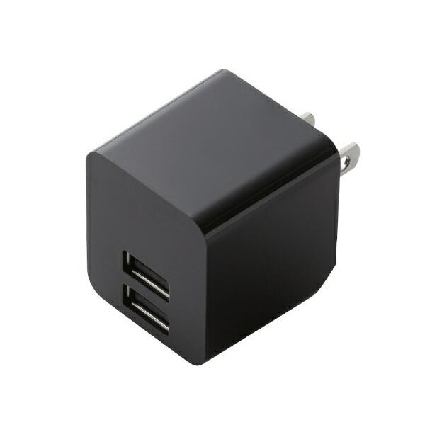 エレコムELECOMスマホ用USB充電コンセントアダプタ2.4A出力ブラックMPA-ACUEN000XBK[2ポート/SmartIC対応]
