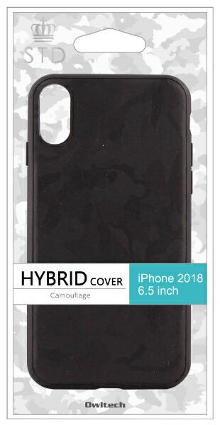 OWLTECHオウルテックiPhoneXSMax6.5インチ対応ハイブリッドケースカモフラージュブラックOWL-CVIA6510-CABK