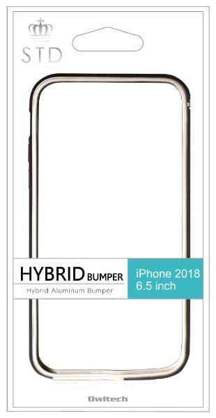 OWLTECHオウルテックiPhoneXSMax6.5インチ対応ハイブリッド+アルミニウムバンパーブラックOWL-CVIA6514-BK