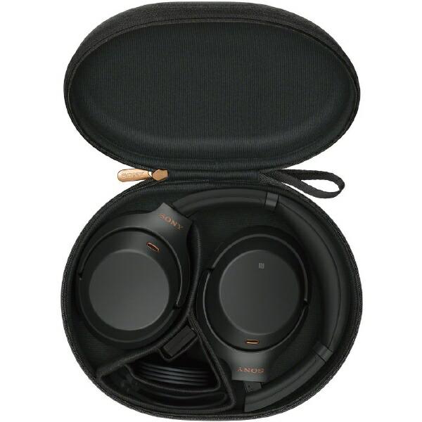 ソニーSONYブルートゥースヘッドホンブラックWH-1000XM3[リモコン・マイク対応/Bluetooth/ハイレゾ対応/ノイズキャンセリング対応][ワイヤレスヘッドホンWH1000XM3BM]