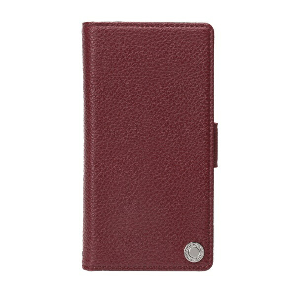 PGAiPhoneXS5.8インチ用フリップカバーエンボスPUレザーワインレッドPG-18XFP13RDワインレッド