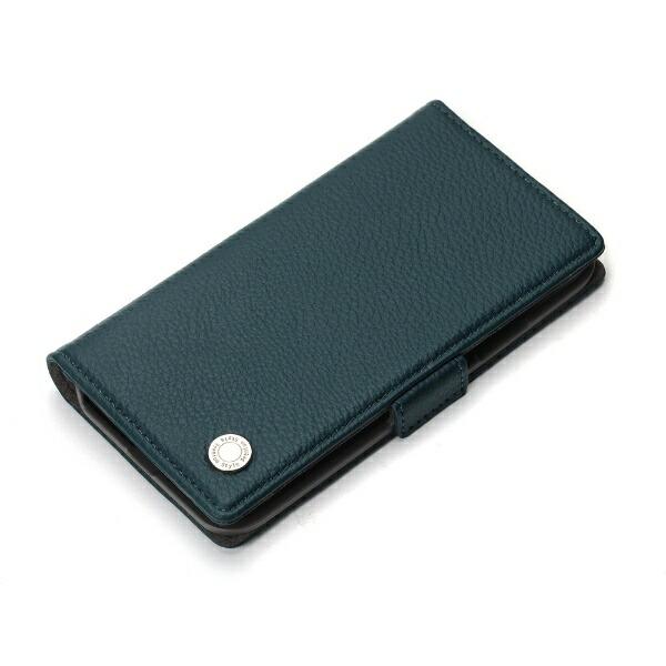 PGAiPhoneXS5.8インチ用フリップカバーエンボスPUレザーブルーPG-18XFP14BLブルー