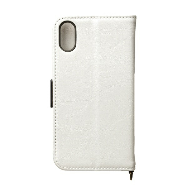 PGAiPhoneXS5.8インチ用フリップカバーPUレザーダメージ加工ホワイトPG-18XFP05WHホワイト