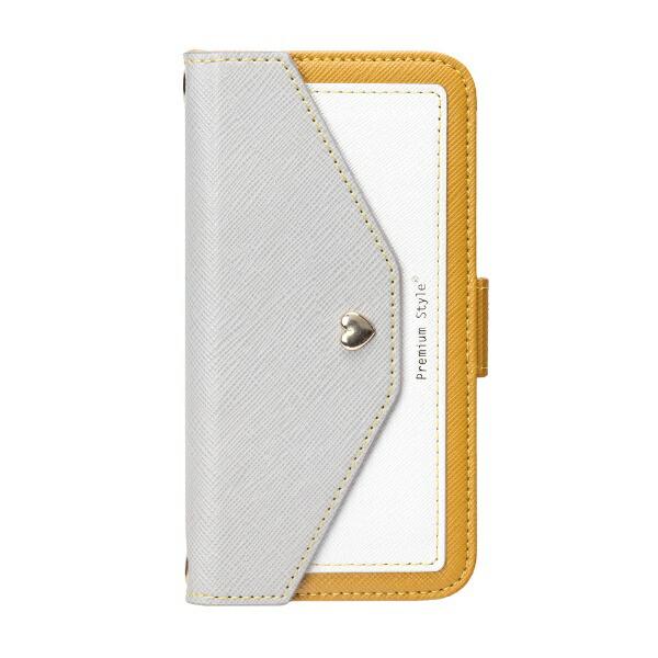 PGAiPhoneXS5.8インチ用フリップカバースクエア型ポケットPG-17XFP40YEイエロー