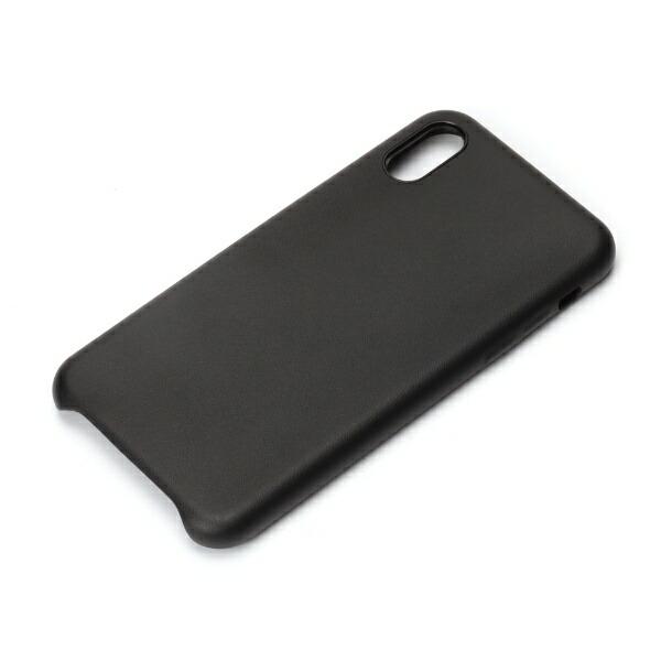 PGAiPhoneXS5.8インチ用PUレザーケースブラックPG-18XPU01BKブラック