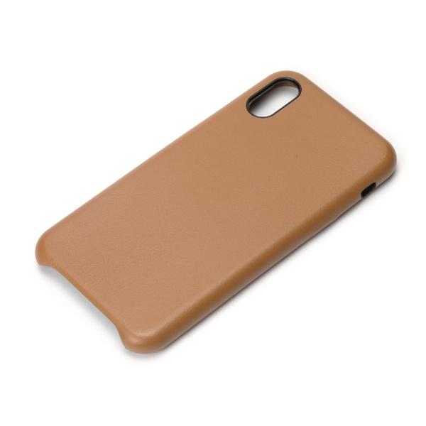PGAiPhoneXS5.8インチ用PUレザーケースブラウンPG-18XPU02BRブラウン
