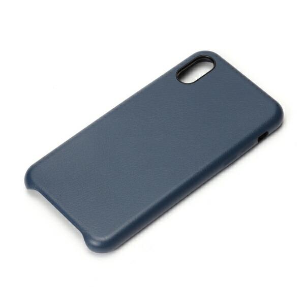 PGAiPhoneXS5.8インチ用PUレザーケースブルーPG-18XPU03BLブルー