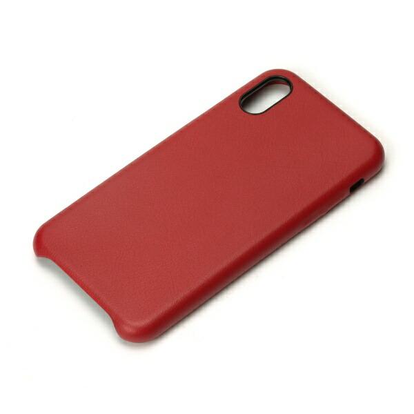 PGAiPhoneXS5.8インチ用PUレザーケースワインレッドPG-18XPU04RDレッド
