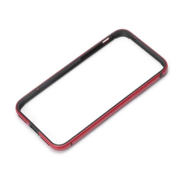 PGAiPhoneXS5.8インチ用アルミ+TPUハイブリッドバンパーレッドPG-18XBP08RDレッド