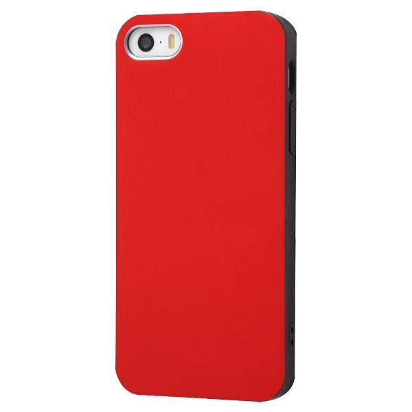 イングレムIngremiPhoneSE(第1世代)4インチ/5s/5TPUソフトケースColorap/レッドIN-P17CP1/Rレッド