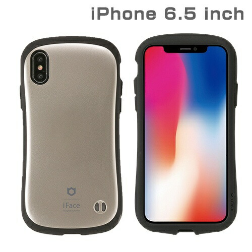 HAMEEハミィiPhoneXSMax6.5インチ専用iFaceFirstClassMetallicケース(ゴールド)41-897218