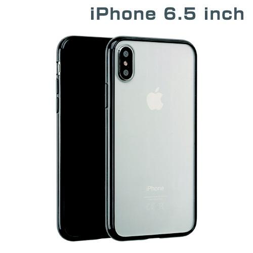 HAMEEハミィiPhoneXSMax6.5インチ専用サイドカラードクリアハイブリッドケース(ブラック)276-897706