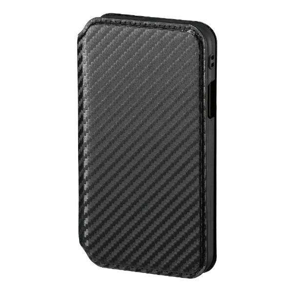 サンクレストSUNCRESTiPhoneXR6.1インチ用NEWTCATFLIPカーボンブラック