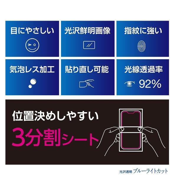 ナカバヤシNakabayashiiPhoneXSMax6.5インチ用液晶保護フィルム光沢透明ブルーライトカット