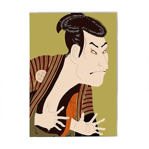 セキセイSEKISEIPKN-738パックンカバーノート高透明A5浮世絵歌舞伎