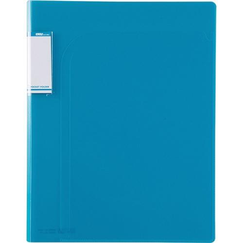 セキセイSEKISEIACT-5802アクティフV2ポケットフォルダーB5ブルー