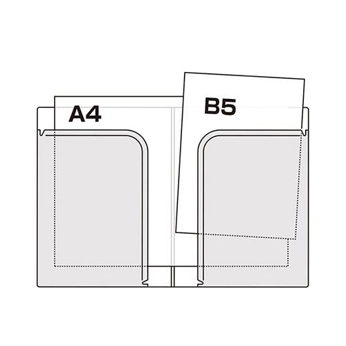 セキセイSEKISEIACT-5802アクティフV2ポケットフォルダーB5ローズ