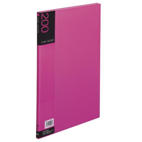 セキセイSEKISEINPP-200名刺ホルダー(溶着式)200名ピンク