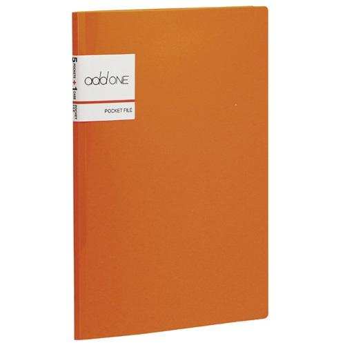 セキセイSEKISEIAD-2655アドワンポケットファイルA55ポケットオレンジ