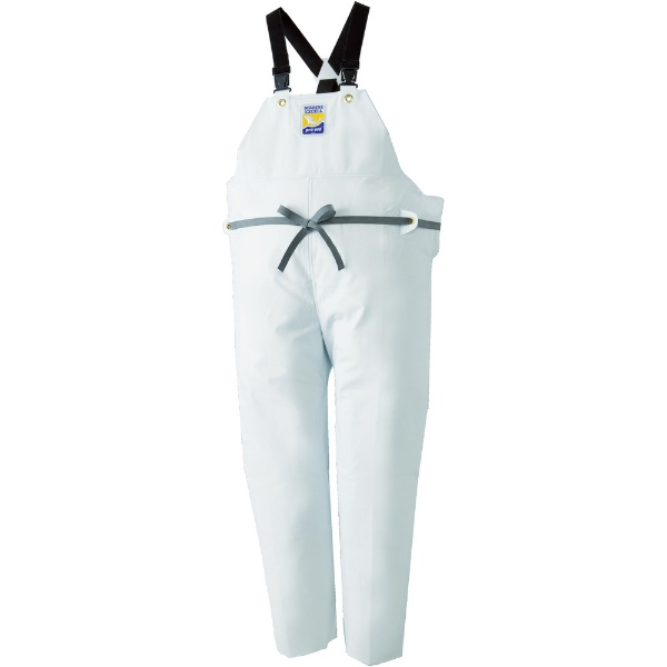 ロゴスLOGOSマリンエクセル胸当て付きズボン膝当て付きサスペンダー式ホワイトM12063613