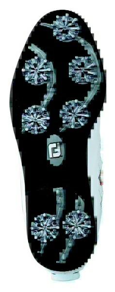 フットジョイFootJoy24.5cmレディースゴルフシューズeCOMFORTBoaイーコンフォートボア(ホワイト×レッド)98625