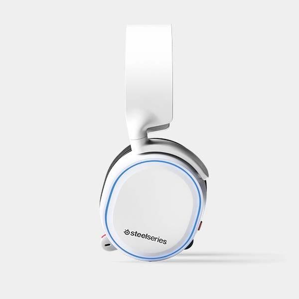 STEELSERIESスティールシリーズ61507ゲーミングヘッドセットArctis5White(2019Edition)STEELSERIESホワイト[φ3.5mmミニプラグ+USB/両耳/ヘッドバンドタイプ][61507]